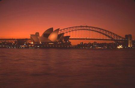 Sunset over Sydney Harbor