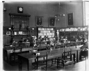 Morgan Reading Room.  Morgan Hall was the College's library from 1855 to 1917, before moving to converse.