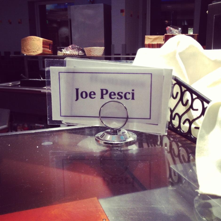 """Joe Pesci,"" one of Val's many dinner offerings."