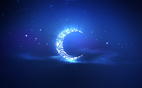 The crescent moon signals the start of Ramadan