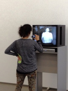 Mediating a mediation of a mediated image, at Hamburger Bahnhof, Berlin