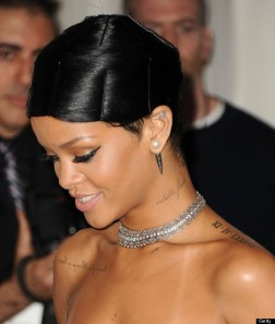 Rihanna wears a tubi or doobie wrap
