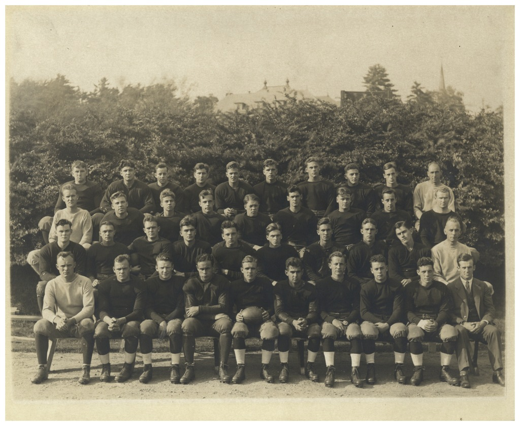 The 1923 Amherst Men's Football team is shrimpy as hell. Like, I probably would have been one of the heavier people on the team, and I weigh less than 150 pounds, so that's saying something.