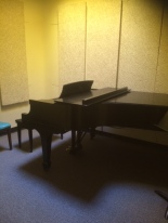 Room 219, one of the smaller (and cozier) practice rooms, and my usual piano cave