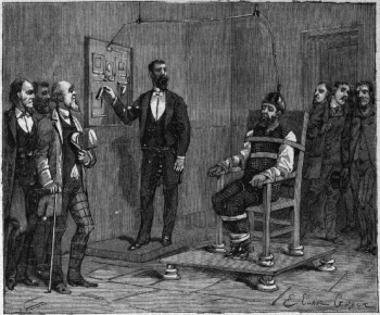 The execution of William Kemmler, 1890.