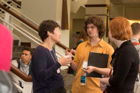 Professor Daryll Haggard (on the left), my lab partner Allison Watson (on the right), and I (ini the middle) at the Inclusive Astronomy 2015 Conference.