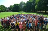 All the attendees of Inclusive Astronomy 2015. My research partner, Allison Watson '18, and I can be seen in the very far back!