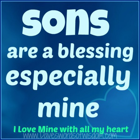 sons are a blessing